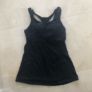 Black Lululemon tank with built in bra